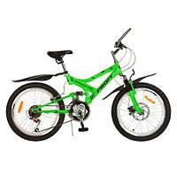 Спортивный велосипед 20 дюймов PROFI - Sensor FR М 2009D  (салатовый) - на стальной раме