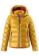 Куртка-жилет пуховая для девочек Reima 531224 жёлтая, Размер 146