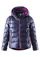 Куртка-жилет пуховая для девочек Reima 531224 тёмно-синяя, Размер 122