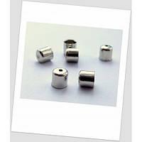 Концевик-колпачок металлический, стальной, 7 мм х 6 мм