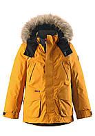 Куртка-пуховик детская Reima 531235 тёмно-жёлтая, Размер 140