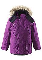Куртка-пуховик детская Reima 531235 бордовая, Размер 134