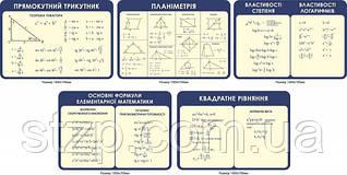 Комплект стендів кабінет Математики - 4015