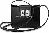 01-16 Черная женская сумка с ремнем Ariana