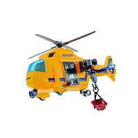 Спасательный вертолет с механической лебедкой и спасательной люлькой.