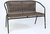 Садовая скамейка из ротанга