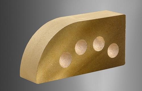 Облицовочный кирпич «Литос» фасонный «полукруг»