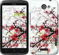"""Чехол на HTC One X Цветущий куст """"831c-42"""""""