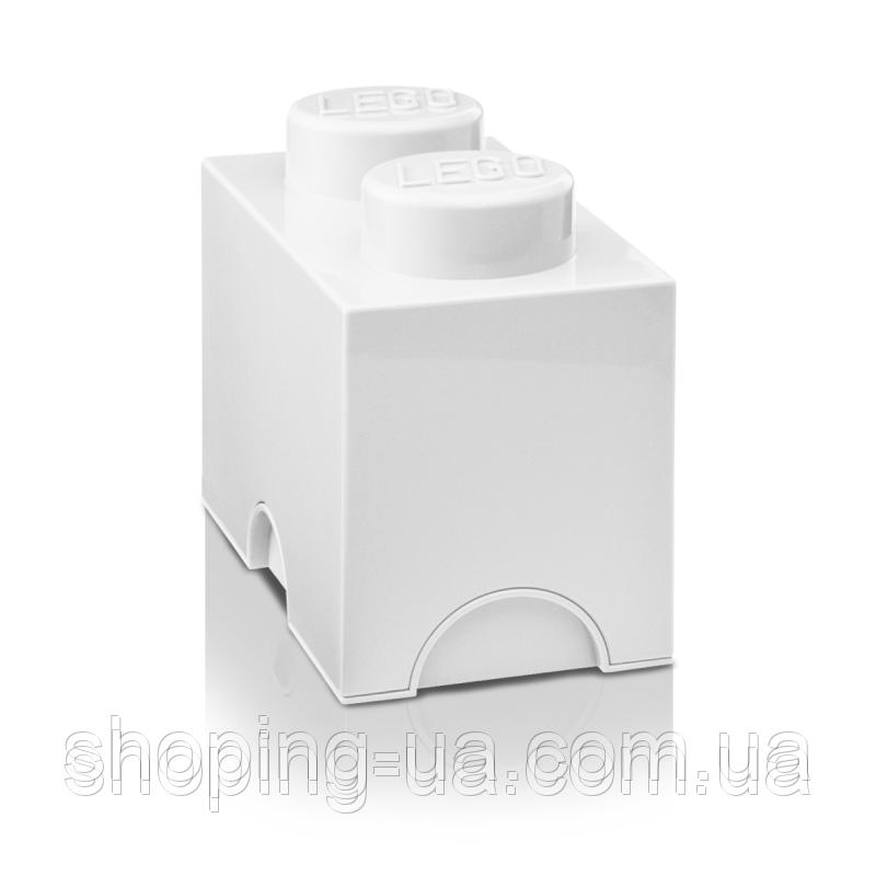 Двухточечный белый контейнер для хранения Lego PlastTeam 40021735