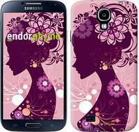 "Чехол на Samsung Galaxy S4 i9500 Силуэт девушки ""2831c-13"""