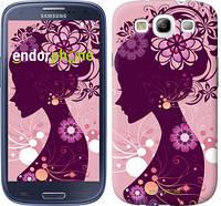 "Чехол на Samsung Galaxy S3 i9300 Силуэт девушки ""2831c-11"""