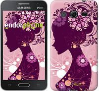 "Чехол на Samsung Galaxy Core 2 G355 Силуэт девушки ""2831c-75"""