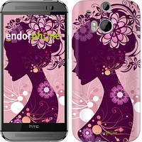 "Чехол на HTC One M8 Силуэт девушки ""2831c-30"""