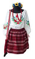 Юбка. Костюм народный украинский детский и взрослый под заказ. Блузочка на выбор.
