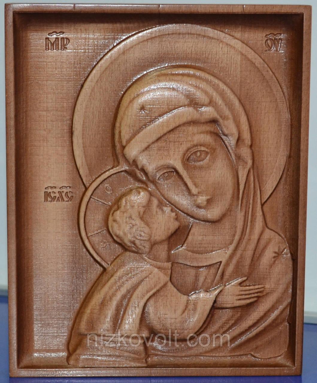 Резная икона Пресвятой Божьей Матери Игоревской (160х200х18)