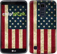 """Чехол на LG K10 / K410 Флаг США """"395u-349"""""""
