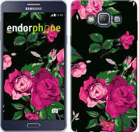 """Чехол на Samsung Galaxy A7 A700H Розы на черном фоне """"2239u-117"""""""