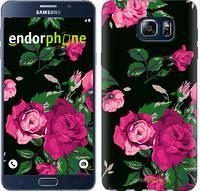 "Чехол на Samsung Galaxy Note 5 N920C Розы на черном фоне ""2239u-127"""