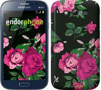 "Чехол на Samsung Galaxy Grand I9082 Розы на черном фоне ""2239c-66"""