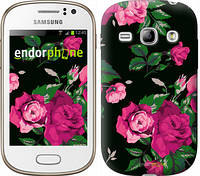 "Чехол на Samsung Galaxy Fame S6810 Розы на черном фоне ""2239u-254"""