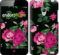 "Чехол на Meizu MX2 Розы на черном фоне ""2239u-239"""