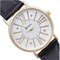 Женские часы с черным ремешком  Geneva (25)