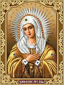 """Набор алмазной вышивки (мозаики) икона """"Богородица Умиление"""" (78х55)"""