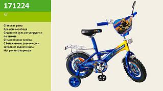 Велосипед со звонком, зеркалом, без ручного тормоза