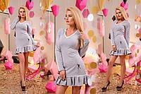 Женское Платье мини юбка в складку