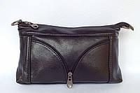 Сумочка-клатч повседневная с длинным и коротким плечевым ремнем черного цвета