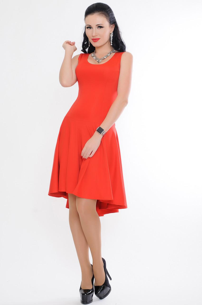 """Красное женское платье """"Николь"""""""