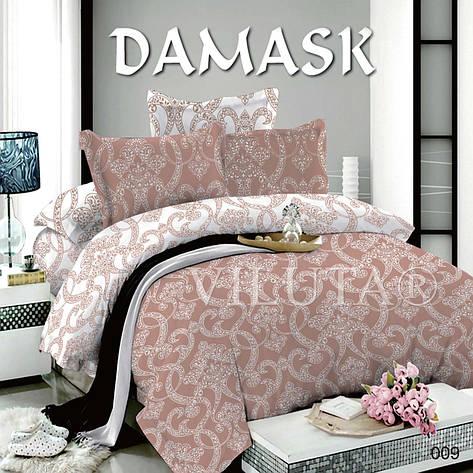 Комплект постельного белья Вилюта поплин Дамаск 009 полуторный, фото 2