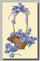 Схема Орхидея ОСЧ-34 Корзина фиалок 40х25