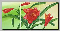 Схема Орхидея Триптих лилии 80х40