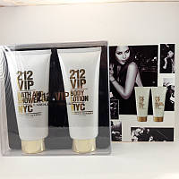 Набор подарочный Carolina Herrera 212 VIP (гель для душа + лосьон для тела), 2 х 100 мл