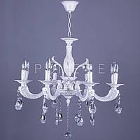 Классическая люстра на цепи с элементами хрусталя на 8 лампочек P5-N2240/8/WG