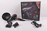 Фен для волос с насадками Kemei (мощность 1800W) KM-8888