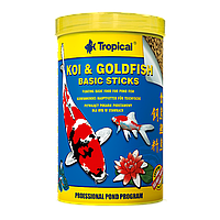 Tropical Koi & Gold Basic Sticks корм для прудовых рыб в палочках, 1 л
