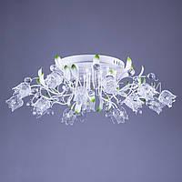 Люстра с LED лампочками и LED подсветкой я P5-Y0776/16/WT