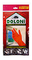 Перчатки хозяйственные латексные Doloni универсальные (Арт. 4544) размер XL очень большой - 1 пара.