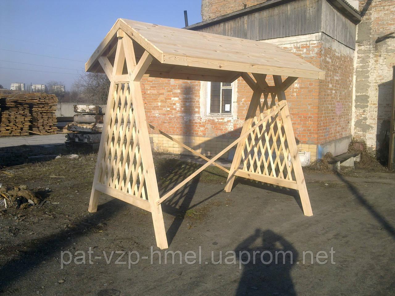 Качель деревянная садовая