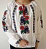 Женская вышиванка на домотканном полотне Мальвы, фото 2