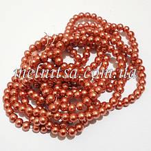 Перли керамічний, 6 мм, рожево-коричневий (20 шт)