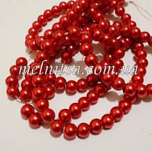 Перли керамічний, 6 мм, червоний (20 шт)