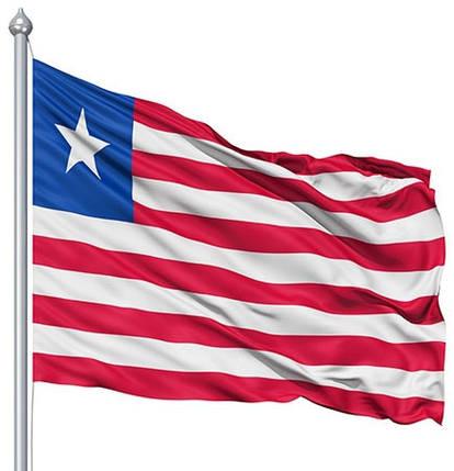 Национальный флаг Либерии 90х150см, фото 2