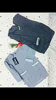 Детская серая кофта-туника с карманами. Размеры: 116-146