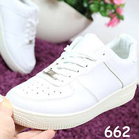 Кроссовки женские белые реплика Nike Air Force