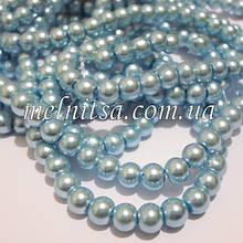Перли керамічний, 6 мм, блакитний (20 шт)