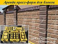 Аренда пресс форм, матрицы для декоративных колотых блоков напрокат, фото 1