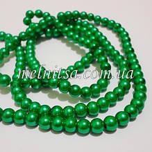 Перли керамічний, 6 мм, зелений (20 шт)